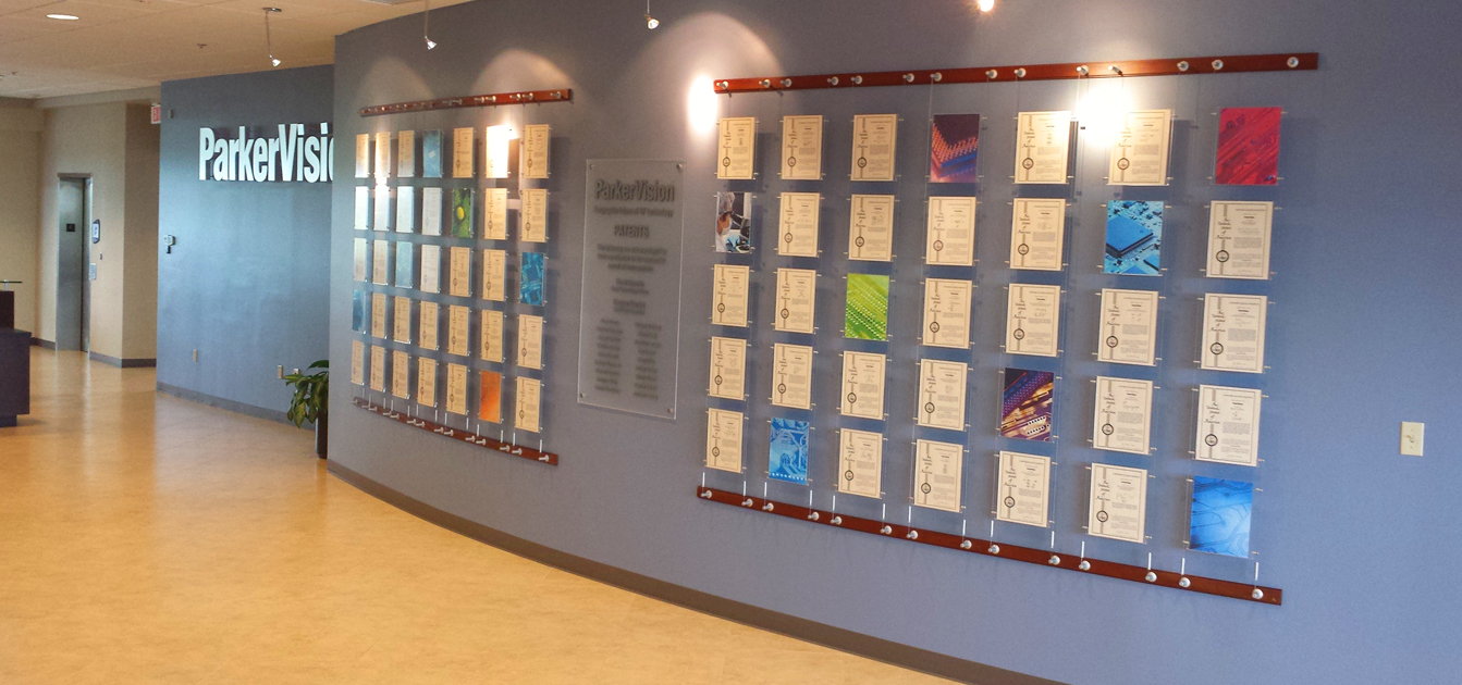 Parker Vision Patent Wall Display | Brown Enterprises USA